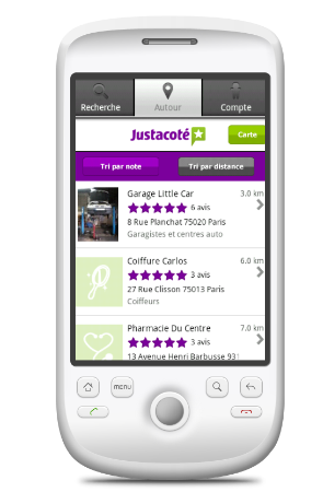 Application Android Justacoté
